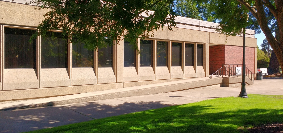 Photo of Milne Computer Center from outside.
